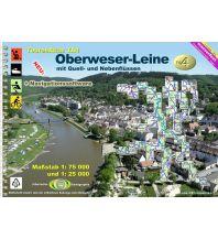 Revierführer Binnen TourenAtlas Wasserwandern / TourenAtlas TA4 Oberweser-Leine Jübermann