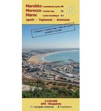 Straßenkarten J12: Agadir - Taghazout - Imouzzer 1:120.000 GPS - Waypoints Mollenhauer & Treichel