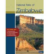 Straßenkarten National Parks of Zimbabwe, Tourist Map Ilona Hupe Verlag