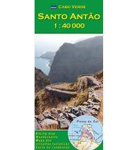 Wanderkarten Afrika AB-Wanderkarte Cabo Verde: Santo Antão 1:40.000 AB Kartenverlag Attila Bertalan