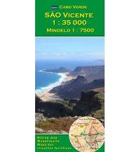 Wanderkarten AB Wanderkarte und Stadtplan Kapverden - Sao Vicente 1:35.000 AB Kartenverlag Attila Bertalan