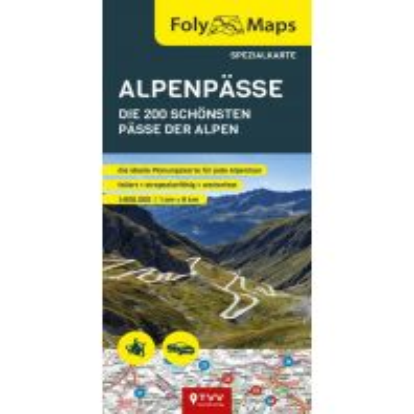 Motorradreisen FolyMaps Alpenpässe Spezialkarte Touristik-Verlag Vellmar