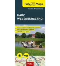 Motorradreisen FolyMaps Harz Weserbergland 1:250 000 Touristik-Verlag Vellmar