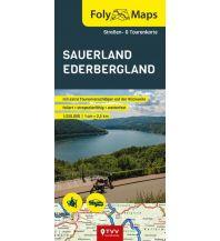 Motorradreisen FolyMaps Sauerland Ederbergland 1:250 000 Touristik-Verlag Vellmar