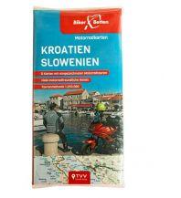 Motorradreisen Motorradkarten Set Kroatien Slowenien Touristik-Verlag Vellmar