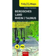 Motorradreisen FolyMaps Bergisches Land - Rhein - Taunus 1:250 000 Touristik-Verlag Vellmar