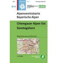 Skitourenkarten Alpenvereinskarte BY-19, Chiemgauer Alpen Ost - Sonntagshorn 1:25.000 Österreichischer Alpenverein