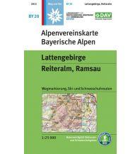 Skitourenkarten Alpenvereinskarte BY-20, Lattengebirge, Reiteralm 1:25.000 Österreichischer Alpenverein