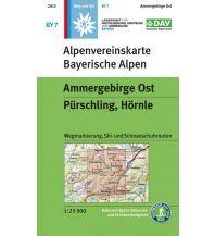 Skitourenkarten Alpenvereinskarte BY-7, Ammergebirge Ost, Pürschling, Hörnle 1:25.000 Österreichischer Alpenverein