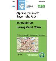 Skitourenkarten Alpenvereinskarte BY-9, Estergebirge, Herzogstand, Wank 1:25.000 Österreichischer Alpenverein