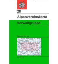 Wanderkarten Vorarlberg Alpenvereinskarte 28, Verwallgruppe 1:50.000 Österreichischer Alpenverein