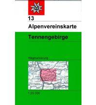 Wanderkarten Salzburg Alpenvereinskarte 13, Tennengebirge 1:25.000 Österreichischer Alpenverein