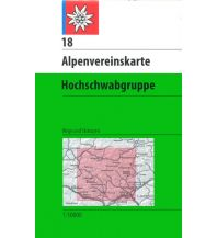 Skitourenkarten Alpenvereinskarte 18, Hochschwabgruppe 1:50.000 Österreichischer Alpenverein