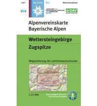 Skitourenkarten Alpenvereinskarte BY-8, Wettersteingebirge, Zugspitze 1:25.000 Österreichischer Alpenverein