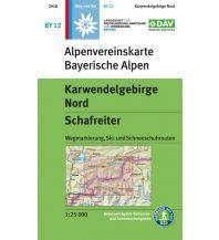 Skitourenkarten Alpenvereinskarte BY-12, Karwendelgebirge Nord - Schafreiter 1:25.000 Österreichischer Alpenverein