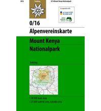 Wanderkarten Alpenvereinskarte 0/16, Mount Kenya Nationalpark 1:50.000 Österreichischer Alpenverein