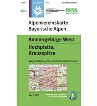 Skitourenkarten Alpenvereinskarte BY-6, Ammergebirge West, Hochplatte, Kreuzspitze 1:25.000 Österreichischer Alpenverein
