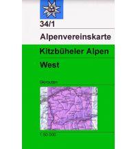 Skitourenkarten Alpenvereinskarte 34/1 Ski, Kitzbüheler Alpen - West 1:50.000 Österreichischer Alpenverein