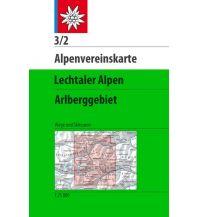 Skitourenkarten Alpenvereinskarte 3/2, Lechtaler Alpen - Arlberggebiet 1:25.000 Österreichischer Alpenverein