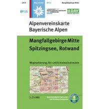 Skitourenkarten Alpenvereinskarte BY-15, Mangfallgebirge Mitte, Spitzingsee, Rotwand 1:25.000 Österreichischer Alpenverein