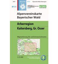 Skitourenkarten Alpenvereinskarte BY-23, Bayerischer Wald - Arberregion, Kaitersberg, Osser 1:25.000 Österreichischer Alpenverein