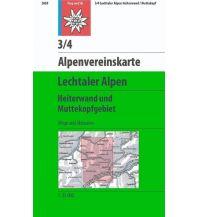 Alpenvereinskarte 3/4, Lechtaler Alpen - Heiterwand, Muttekopfgebiet 1:25.000 Österreichischer Alpenverein