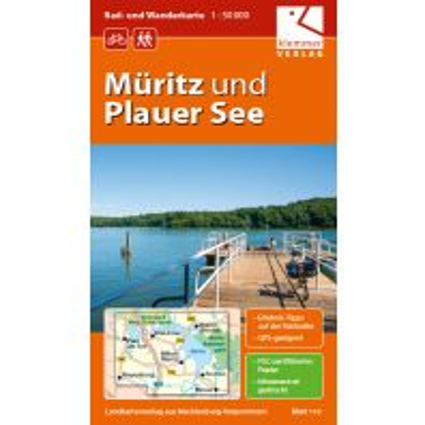 Radkarten Müritz und Plauer See 1:50.000 Klemmer Verlag
