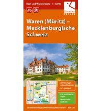 Rad- und Wanderkarte Waren (Müritz), Mecklenburgische Schweiz 1:50.000 Klemmer Verlag