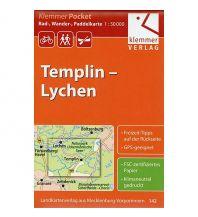 Radkarten Klemmer Pocket 142, Templin, Lychen 1:50.000 Klemmer Verlag