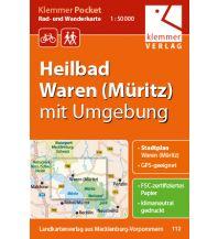 Klemmer Pocket Rad- und Wanderkarte Heilbad Waren (Müritz) mit Umgebun Klemmer Verlag