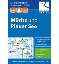 Kanusport Klemmer Pocket Gewässerkarte Müritz und Plauer See 1:50.000 Klemmer Verlag