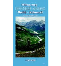 Wanderkarten Balkan Huber Hiking Map Northern Albania - Thethi, Kelmend 1:50.000 Huber Verlag