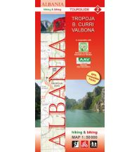 Wanderkarten Balkan Albania hiking & biking Map 2, Tropoja, Bajram Curri, Valbona 1:50.000 Huber Verlag