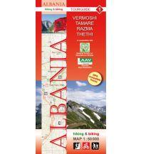 Wanderkarten Balkan Albania hiking & biking Map 1, Vermoshi, Tamare, Razma, Thethi 1:50.000 Huber Verlag