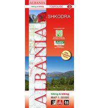 Wanderkarten Balkan Albania hiking & biking Map 3, Shkodra 1:50.000 Huber Verlag