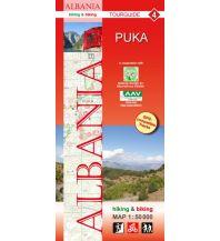 Wanderkarten Balkan Albania hiking & biking Map 4, Puka 1:50.000 Huber Verlag