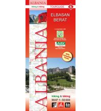 Wanderkarten Balkan Albania hiking & biking Map 6, Elbasan, Berat 1:50.000 Huber Verlag