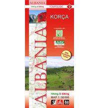 Wanderkarten Balkan Albania hiking & biking Map 7, Korça 1:50.000 Huber Verlag