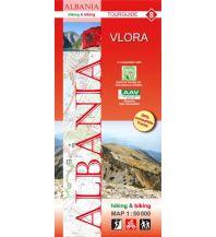 Wanderkarten Balkan Albania hiking & biking Map 8, Vlora 1:50.000 Huber Verlag