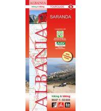 Wanderkarten Balkan Albania hiking & biking Map 9, Saranda 1:50.000 Huber Verlag