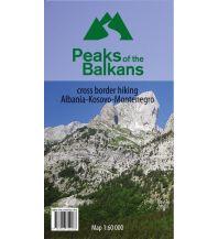 Weitwandern Wanderkarte Peaks of the Balkans - Albanien, Kosovo, Montenegro 1:60.000 Huber Verlag