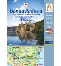Radkarten EuroVelo 6: Donau Radweg 1:100.000 Huber Verlag