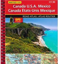 Straßenkarten CCC Maps Spiralgebundener Atlas Kanada, USA, Mexiko - Canada / Kanada, USA, Mexico / Mexiko Huber Verlag