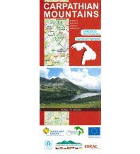 Straßenkarten Carpathian Mountains Huber Verlag