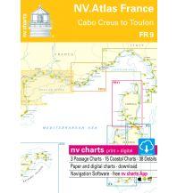 Seekarten NV. Atlas FR 9 Frankreich - Cabo Creus to Toulon 2019/2020 Nautische Veröffentlichungen