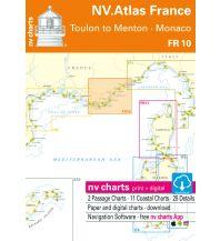 Seekarten NV.Atlas FR 10 Frankreich - Toulon to Menton - Monaco 2019/2020 Nautische Veröffentlichungen