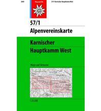 Alpenvereinskarte 57/1, Karnischer Hauptkamm - West 1:25.000 Österreichischer Alpenverein