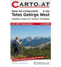 Skitourenkarten Wander-, Rad- & Schitourenkarte 402a, Totes Gebirge West 1:35.000 Mag. Nikolai Hafner