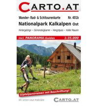 Skitourenkarten Wander- Rad- & Schitourenkarte 401b, Nationalpark Kalkalpen Ost 1:35.000 Mag. Nikolai Hafner