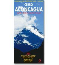 Wanderkarten Südamerika Cerro Aconcagua 1:40.000 Climbing-Map Team